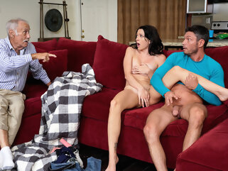 Riley Jean in Dont Wake Grandpa - MyFamilyPies porntv big tits brunette creampie