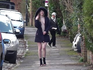 Hot all round Heels and a Hood - British public flashing - Part Two porntv blonde public nudity flashing