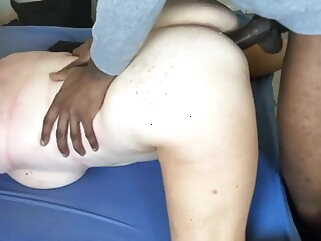 Mature wife is getting fucked by her BBC bull. Hubby films. porntv amateur interracial milf
