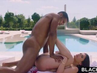 BLACKED Hottie Penelope has secret pool sex with huge BBC porntv brunette big dick blowjob
