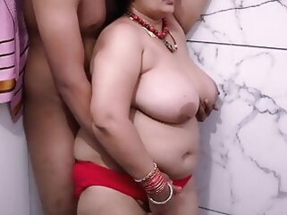 KANCHAN AUNTY In the air Lavatory porntv blowjob bbw mature