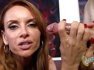 Janet Mason – Astonishing milf with red-hot nails gives handjob porntv cumshot hardcore mature