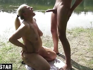 Sultry Milf drinks piss doused porntv blonde blowjob hardcore
