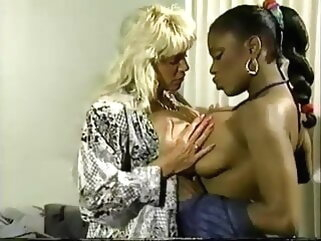 Beverlee with an increment of Clouded porntv lesbian pornstar interracial